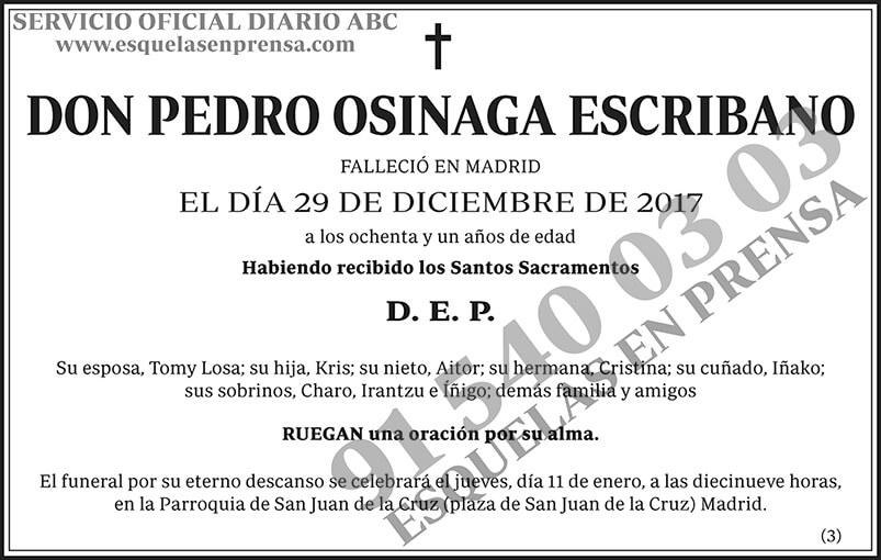Pedro Osinaga Escribano